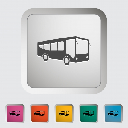 Bus. Single icon. Vector illustration. Vector