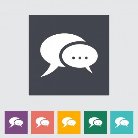 Chat flat icon. Vector illustration.