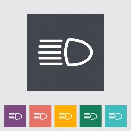 Headlight flat icon. Vector illustration. Illustration