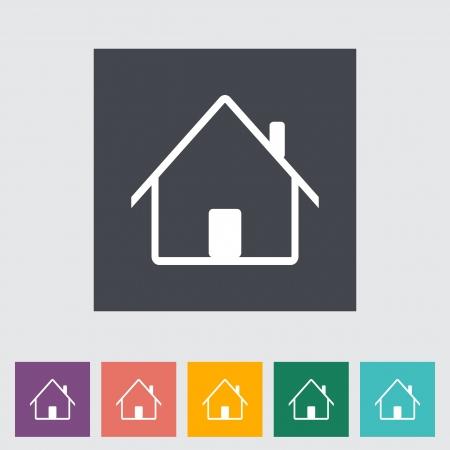Home single flat icon. Vector illustration. Stock Vector - 21190466