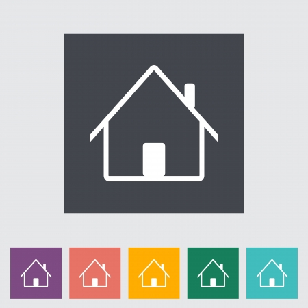Home single flat icon. Vector illustration. Stock Vector - 21190466