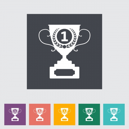 decorative urn: Cup single flat icon. Vector illustration. Illustration