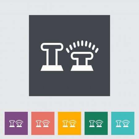 remote lock: Icono del candado las puertas del coche. Ilustraci?ectorial Vectores