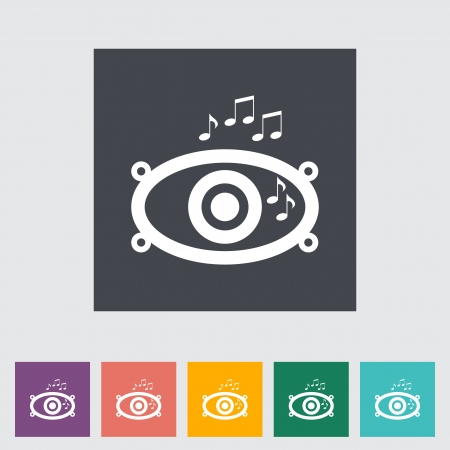Icon of car speakers. Vector illustration. Vector