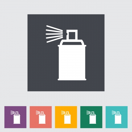 Spray with chemicals. Vector illustration. Stock Vector - 21190481