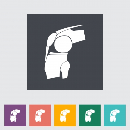 Icono plana sola articulación. Ilustración del vector.