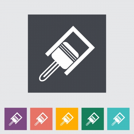 combustion: Car piston flat icon. Vector illustration. Illustration