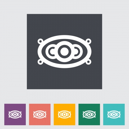 Icon of car speakers. Single flat icon. Vector illustration. Vector