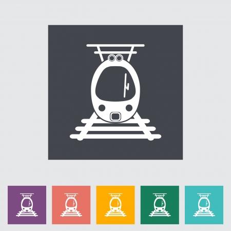 Suburban electric train. Vector illustration. Stock Vector - 21185155