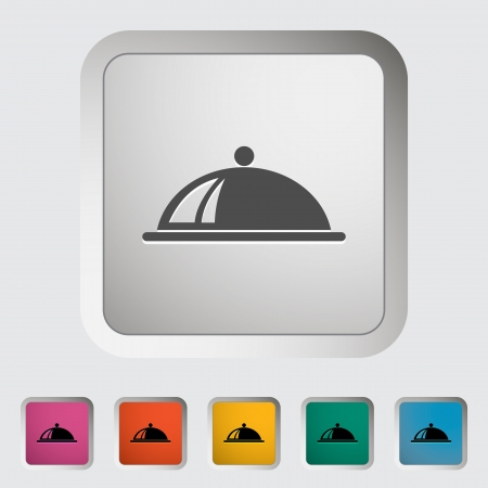 Tray. Single flat icon. Vector illustration.. Vector