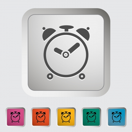 Alarm clock. Single icon. Vector illustration.. Stock Illustration - 21190643