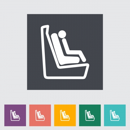 Lower anchors and tethers for children. Single flat icon. Vector illustration. Stock Illustration - 21190644