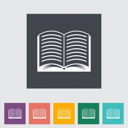 Book. Single flat icon. Vector illustration. Stock Illustration - 21190650