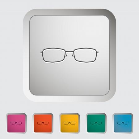 Sunglasses. Single icon. Vector illustration. Stock Illustration - 21190706