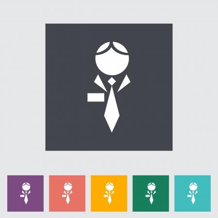 Human flat icon. Vector illustration. illustration