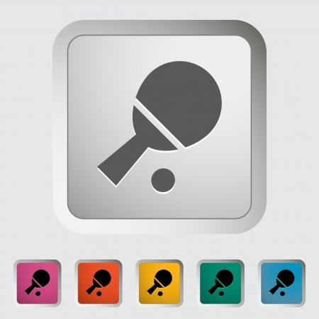 Table tennis. Single icon. Vector illustration.. illustration
