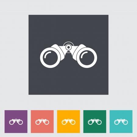 Binoculars flat icon. Single icon. Vector illustration. Stock Vector - 21297979