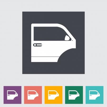 bodywork: Car door. Vector illustration.