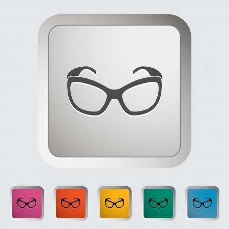 Sunglasses. Single icon. Vector illustration. Stock Vector - 21298053