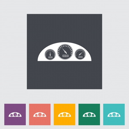 rpm: Icon dashboard. Vector illustration.