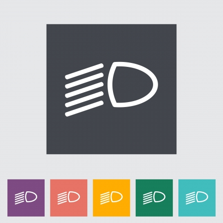 automatic transmission: Headlight flat icon. Vector illustration. Illustration