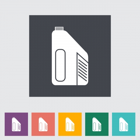 Jerrycan single flat icon. Vector illustration. Vector