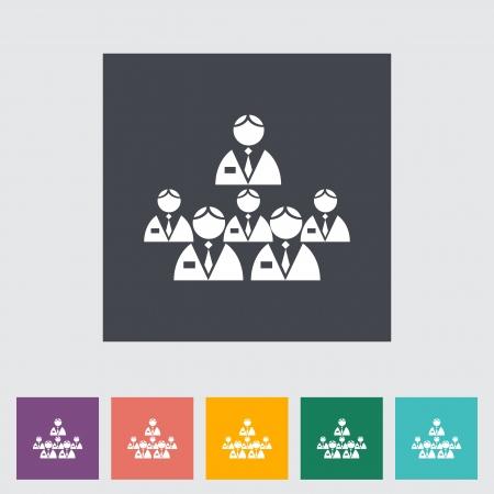 Network single flat icon. Vector illustration. Stock Vector - 21298158