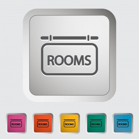Hotel. Single icon. Vector illustration. Vector