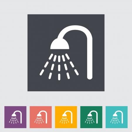 Shower. Single flat icon. Vector illustration. Иллюстрация