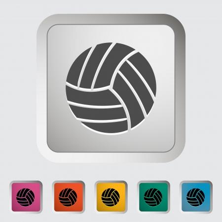 Volleyball. Single flat icon. Vector illustration. Vector