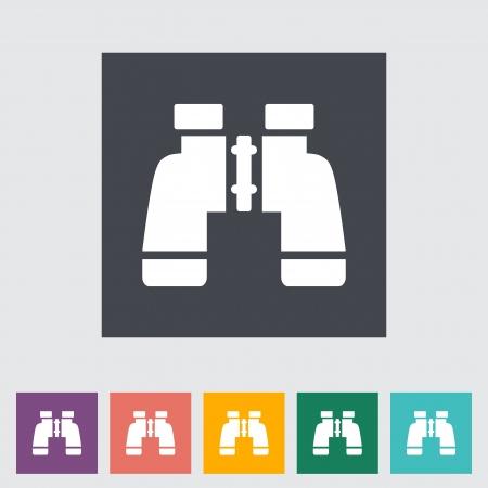 Binoculars icon. Single icon. Vector illustration. Stock Vector - 21319428
