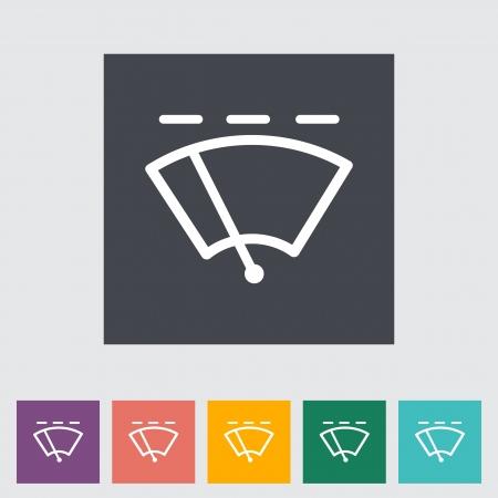 Car flat icon wiper. Vector illustration. Vector
