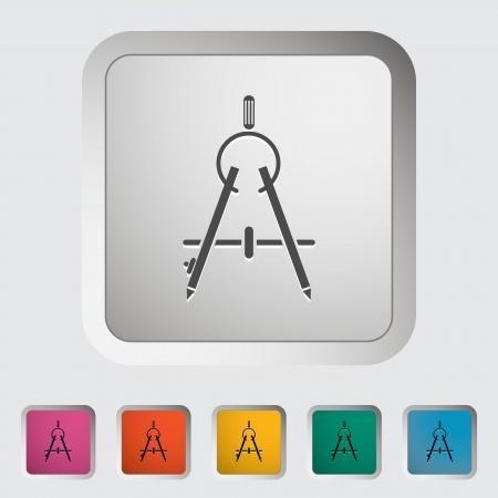 Compass. Single icon. Vector illustration. Illustration