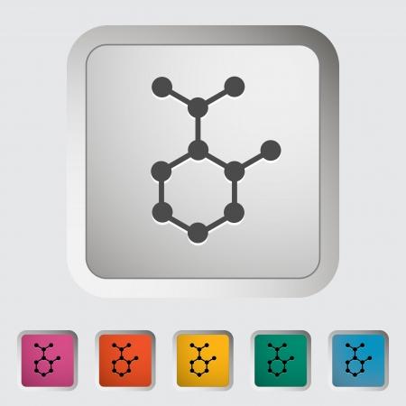 subsidiary: Molecule. Single icon. Vector illustration. Illustration
