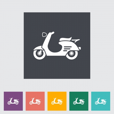 Scooter. Single icon. Vector illustration. Vector