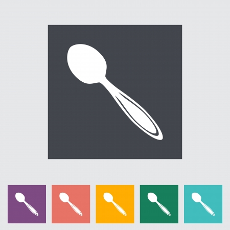 tablespoon: Spoon. Single flat icon. Vector illustration..