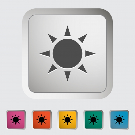 Sun icon. Single icon. Vector illustration. Vector