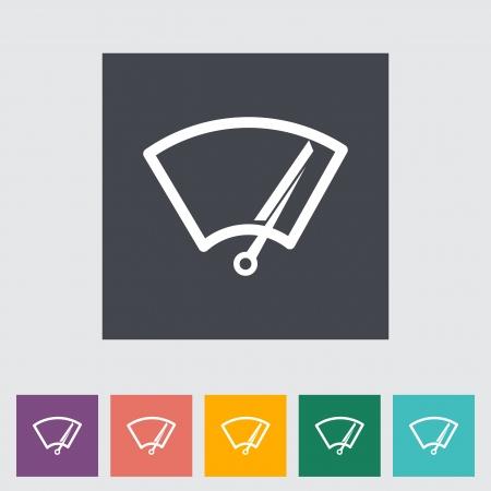 Car icon wiper illustration