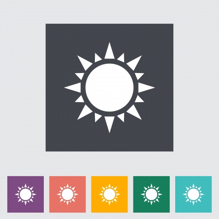 Sun flat icon. Single icon. Vector