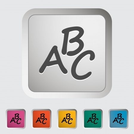 orthography: Alphabet  Single icon illustration  Illustration