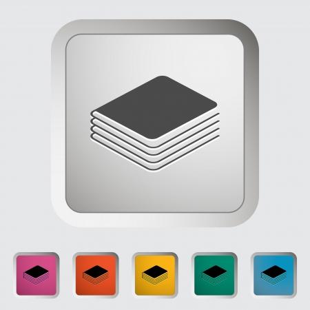 Book  Single icon  illustration  Stock Vector - 21528379