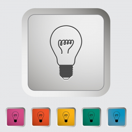 Bulb icon  illustration  Stock Vector - 21520808