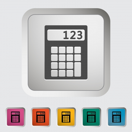maths department: Calculator icon  illustration  Illustration