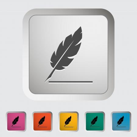 penman: Feather  Single icon illustration