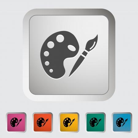 fine arts: Fine Arts  Single icon illustration