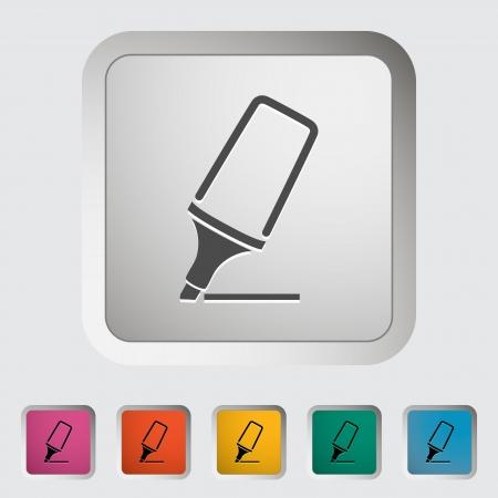 Marker  Single icon illustration  Stock Vector - 21528745