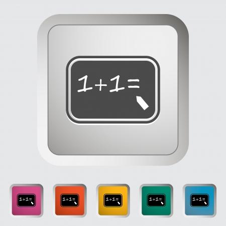 cosine: Mathematics  Single icon  illustration  Illustration