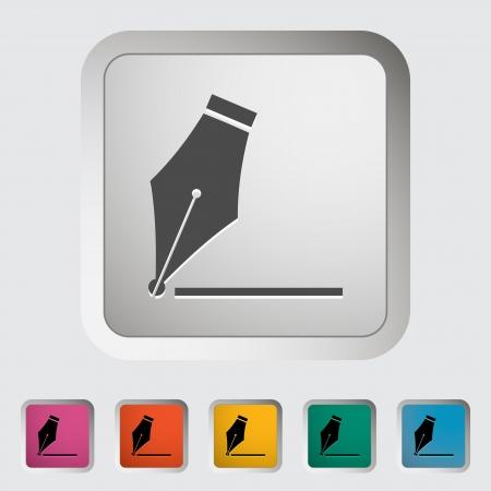Nib  Single icon  illustration Stock Vector - 21528702