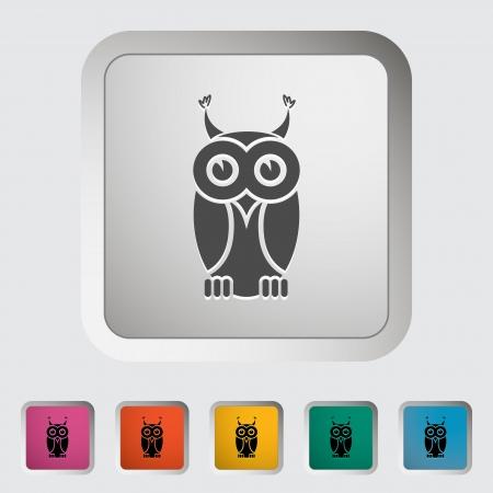 Owl icon  Single icon illustration Stock Vector - 21528627