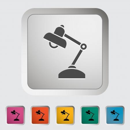 Reading-lamp  Single icon  illustration Stock Vector - 21528713
